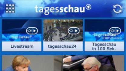 Die Tagesschau-App der ARD ist der Publikumsliebling.