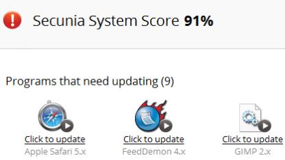 Secunias PSI 3 kann nicht alle Anwendungen automatisch aktualisieren.