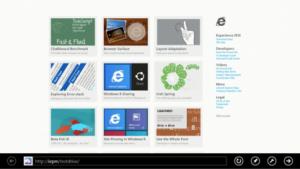 Internet Explorer 10 in der Metro-Version