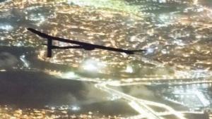 Solar Impulse im Anflug auf Rabat in der vergangenen Woche: erster Abbruch eines Flugs mit dem Solarflugzeug