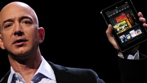 Amazon-Chef Jeff Bezos stellt das Kindle Fire im September 2011 vor.