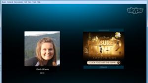 Skype schaltet nun erstmals auch Werbegrafiken während Sprachchats an.