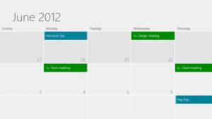 Kalender-App von Windows 8