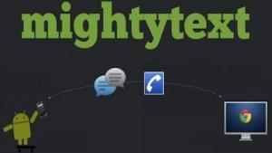 Mightytext zeigt eingehende SMS, selbst wenn das Smartphone vergessen wurde.