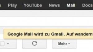 Google Mail wird in Deutschland wieder zu Gmail.