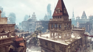 Stadt im Nebel dank Postprocessing