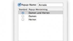 Textexpander 4.0 bietet die Erstellung von Auswahllisten an.