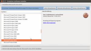 Unter Crossover 11.2 lässt sich unter anderem Visio 2010 von Microsoft nutzen.