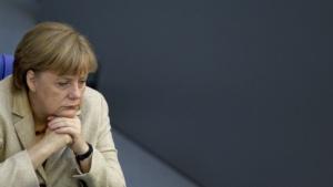 Kanzlerin Angela Merkel im Mai 2012 im Bundestag