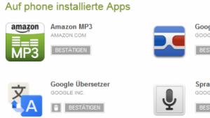 Googles Web-Play-Store noch mit Übersetzungsfehler