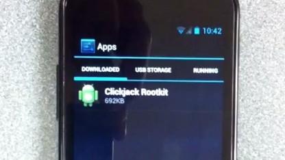 Forscher demonstrieren ihr Clickjacking-Rootkit für Android.