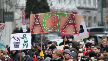 Anti-Acta-Demo in Hamburg