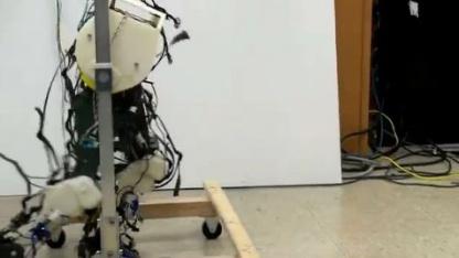 Roboterbeine: einfaches Laufmuster, ohne laufen zu können