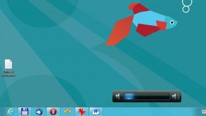 Windows-8-Desktop erlaubt keine Gadgets.