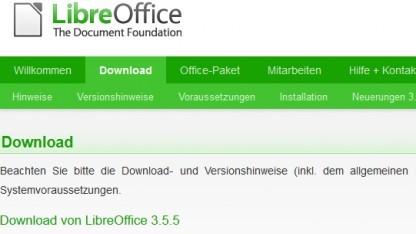 Libreoffice 3.5.5 ist da.