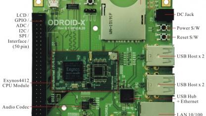 Odroid-X ist ein Open-Source-Entwicklerboard für Android.