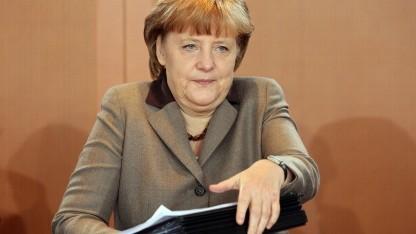 Angela Merkel bei einem Treffen des Bundeskabinetts im April 2012