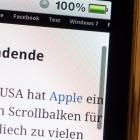iOS: Apple patentiert verschwindende Scrollleiste