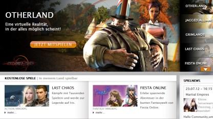 Webseite von Gamigo