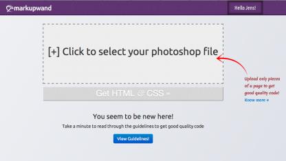 .psd-Dateien in HTML und CSS umwandeln