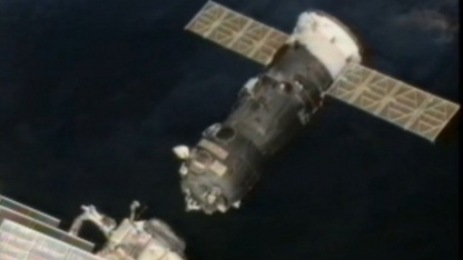 Raumtransporter Progress, ISS: Sicherer Andocken