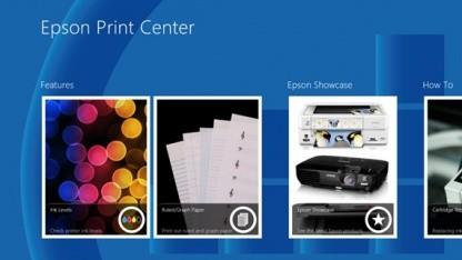 Druckerhersteller können eigene Drucker-Apps in Windows 8 integrieren.