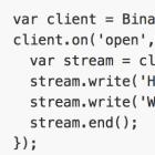 BinaryJS: Binäre Echzeit-Datenströme im Browser