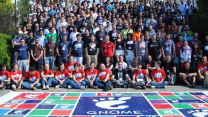 Die Teilnehmer der Guadec 2012 in einem Gruppenfoto