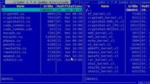 John the Ripper unterstützt Cuda und OpenCL.