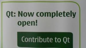 Werbebanner für das Qt-Projekt auf der Akademy