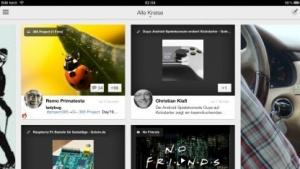 Google+ auf dem iPad