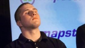 Es hätte so schön sein können: Napster-Gründer Shawn Fanning im Februar 2001