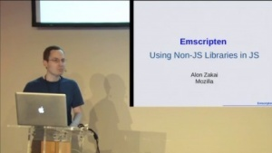 Alon Zakai präsentiert Emscripten.