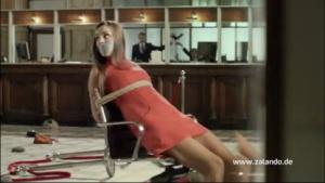 Banküberfall-Werbung von Zalando