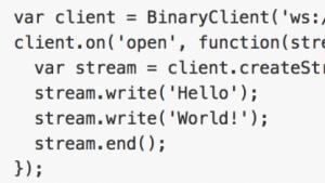 Binärdaten in den Browser hinein und aus ihm heraus streamen