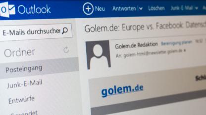 Outlook.com erinnert an Windows 8