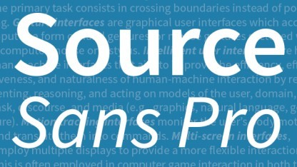 Open-Source-Font Source Sans Pro