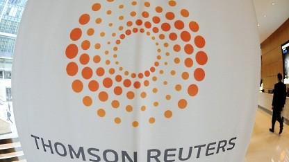 Logo von Reuters im Londoner Hauptgebäude