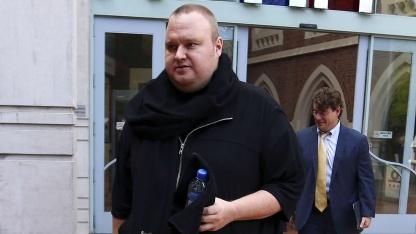 Dotcom am 7. August 2012 vor dem High Court von Auckland