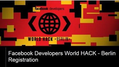 Entwicklerwettbewerb: Facebook Developer World Hack kommt nach Berlin