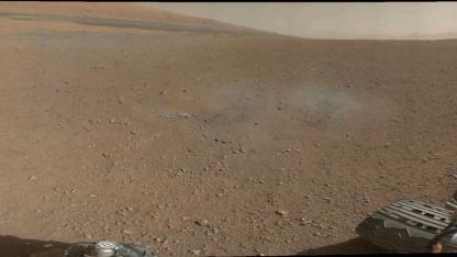 Curiosity schickt Farbfotos: Nasa testet Instrumente des Rovers.