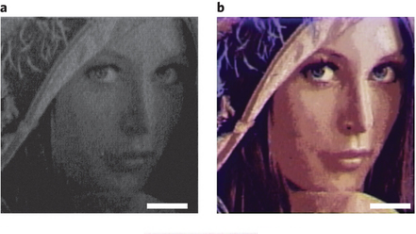 Das Bild vor und nach der Silberbeschichtung