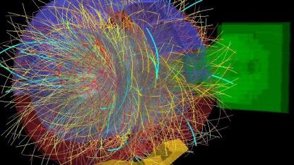 Von Alice aufgezeichnete Schwer-Ionen-Kollision: Bedingungen wie nach dem Urknall
