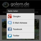 iOS-Browser: Chrome mit integriertem Teilen