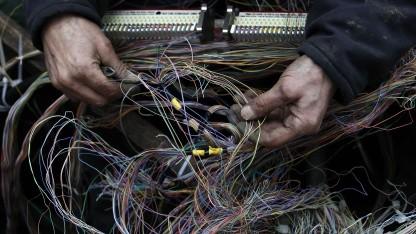 BT-Techniker in London im Januar 2011