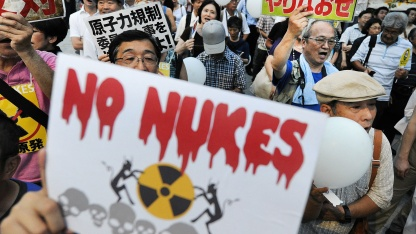 Anti-Atomenergie-Proteste in Japan im August 2012