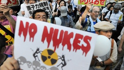 Anti-Atomenergie-Proteste in Japan im August 2012