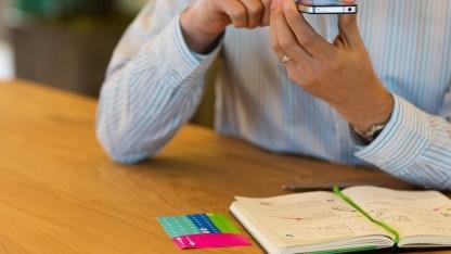 Moleskin-Notizbuch wird abfotografiert.