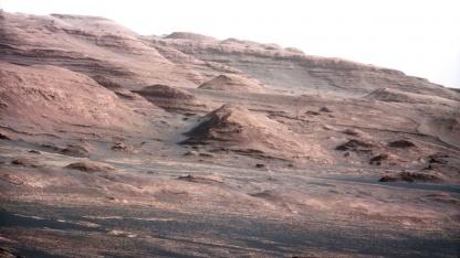 Foto von Curiosity: Geologische Formation am Mount Sharp