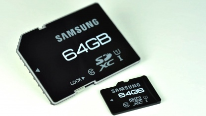 Schnelle SD-Karten mit 64 GByte